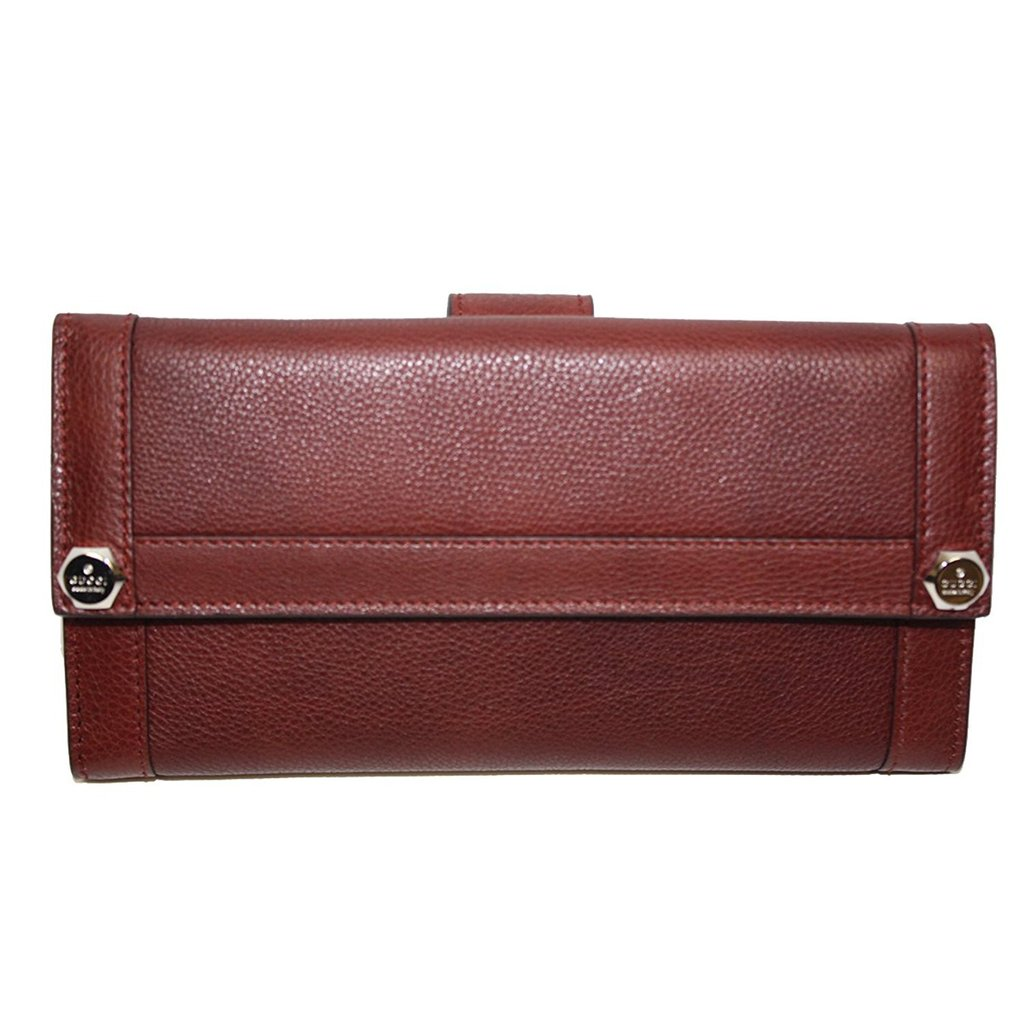 39d4ebe1daf9 Home / Women / Wallets / Gucci Leather Continental Flap Wallet Red Wine