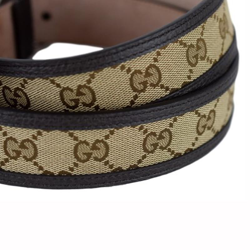 cd16676b39d queenbeeofbeverlyhills-gucci-gg-belt-canvas-brown-leather-unisex-