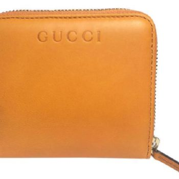 8a97a2545ecf Gucci Soft Leather French Flap Wallet Marigold Yellow