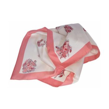 45053d88b4ec Gucci Women s White and Pink Floral Bandanna