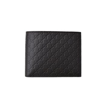 65f728a57554ee Gucci Men's Microguccissima Black Leather Bifold Wallet
