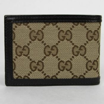 4a2ce0568cd7 Gucci Men's Mini Diamante Bi-fold Wallet Beige/Black