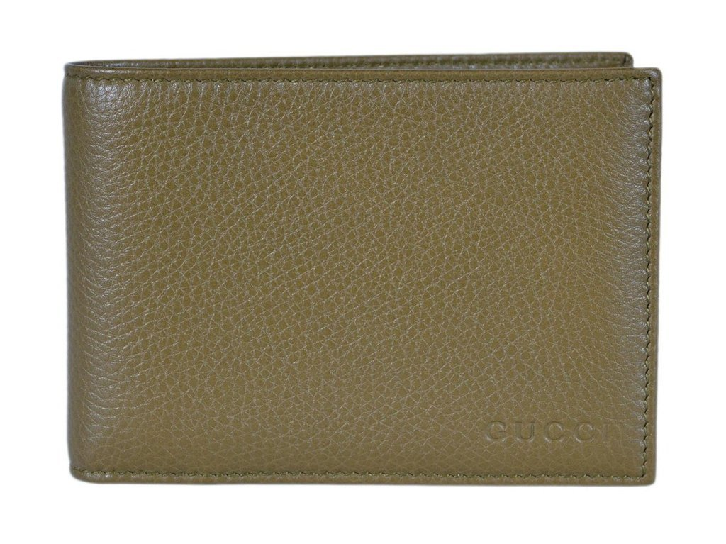 943604f1ff70 Home / Men / Wallets / Gucci Men's Moon Leather Bifold Wallet Classic Olive  Green