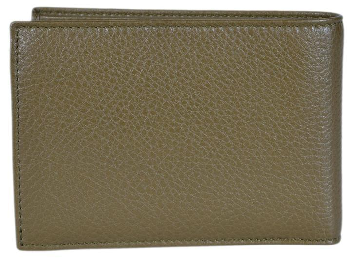 296f04022b55 Gucci Men's Moon Leather Bifold Wallet Classic Olive Green – Luxury ...