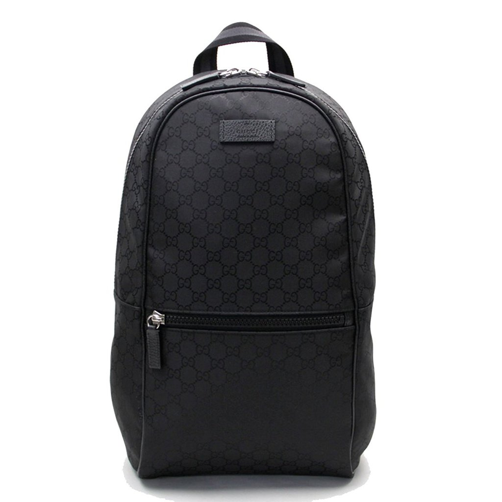 9b6868757d55 Gucci Nylon GG Guccissima Slim Backpack Travel Bag (Black) – Luxury ...