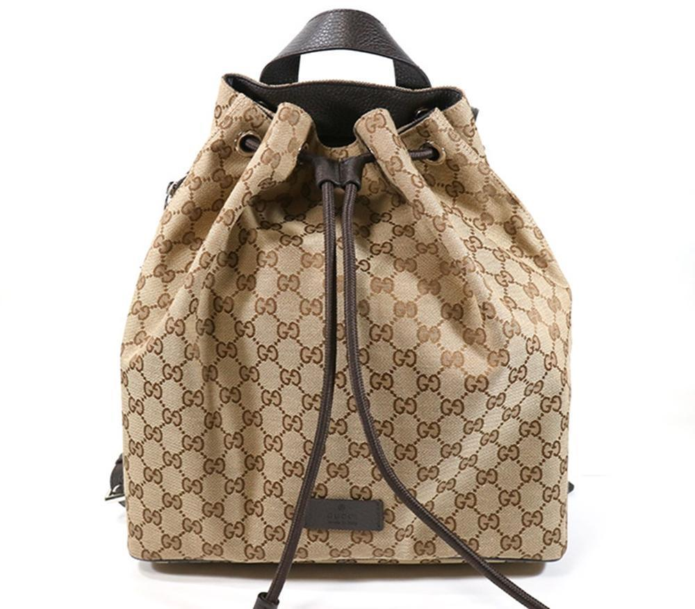 d10c91789 Home / Men / Luggage & Travel / Gucci Original GG Canvas Beige/Brown  Backpack