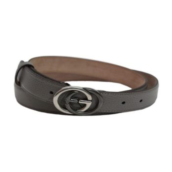 d7b5afe17fa9 Gucci Unisex GG Gray Leather Belt Size  38